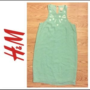 Light Aqua Green H&M Dress with Embellishment